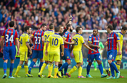 18.10.2014, Selhurst Park Stadium, London, ENG, Premier League, FC Crystal Palace vs FC Chelsea, 8. Runde, im Bild Chelsea's Cesar Azpilicueta is shown the red card and sent off against Crystal Palace // 15054000 during the English Premier League 8th round match between Crystal Palace FC and Chelsea FC at the Selhurst Park Stadium in London, Great Britain on 2014/10/18. EXPA Pictures © 2014, PhotoCredit: EXPA/ Propagandaphoto/ David Rawcliffe<br /> <br /> *****ATTENTION - OUT of ENG, GBR*****
