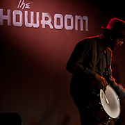 Dom Flemons and Rhiannon Giddens of the Carolina Chocolate Drops perform at the Hub in Spartanburg, South Carolina .