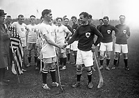 H544<br /> Tailteann Games. Ireland v U.S.A. Hurling. 1924. (Part of the Independent Newspapers Ireland/NLI Collection)