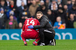 Andreas Weimann of Bristol City goes off injured - Mandatory by-line: Daniel Chesterton/JMP - 15/02/2020 - FOOTBALL - Elland Road - Leeds, England - Leeds United v Bristol City - Sky Bet Championship