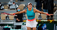 Caroline Garcia of France celebrates winning the third round against against Elise Mertens of Belgium at the Roland Garros 2020, Grand Slam tennis tournament, on October 2, 2020 at Roland Garros stadium in Paris, France - Photo Rob Prange / Spain ProSportsImages / DPPI / ProSportsImages / DPPI