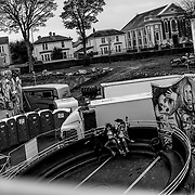 A scene at the Monster Hallowe'en Fun Fair held in Ebrington Sq. a loyalist section of Londonderry. Northern Ireland, November 2019