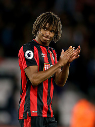 AFC Bournemouth's Nathan Ake celebrates after the final whistle