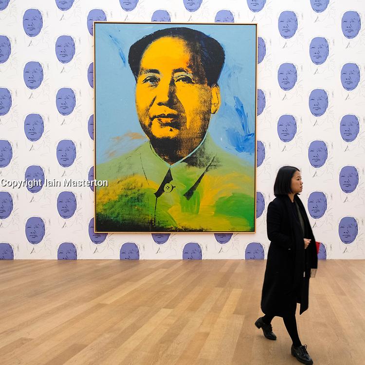Mao by Andy Warhol at Hamburger Bahnhof modern art museum in Berlin, Germany