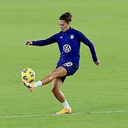 ORLANDO, FL - JANUARY 22:  Carli Lloyd #10 of United States plays against Colombia at Exploria Stadium on January 22, 2021 in Orlando, Florida. (Photo by Alex Menendez/Getty Images) *** Local Caption *** Carli Lloyd