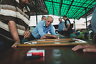 Men play a game of backgammon at the market in Stepanakert, the capital of the de facto Republic of Artsakh (Nagorno-Karabakh).<br /> <br /> (September 22, 2016)