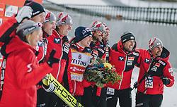 28.02.2020, Salpausselkae Hill, Lahti, FIN, FIS Weltcup Ski Sprung, Herren, Siegerehrung, im Bild Sieger Stefan Kraft (AUT) // Winner Stefan Kraft of Austria during the winner ceremony for the men's FIS Ski Jumping World Cup at the Salpausselkae Hill in Lahti, Finland on 2020/02/28. EXPA Pictures © 2020, PhotoCredit: EXPA/ JFK