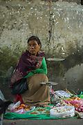Khasi woman vegetable seller<br /> Barabazar market, Shillong<br /> Meghalaya,  ne India
