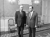 1984 - President Mitterand Visits Aras An Uachtarain