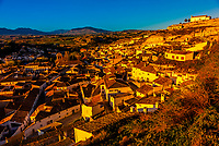 The town of Galera, which is known for its cave houses (both for residents and as accomodations for tourists), Granada Province, Andalusia, Spain.