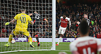 Arsenal's Ainsley Maitland-Niles scores his side's second goal<br /> <br /> Photographer Rob Newell/CameraSport<br /> <br /> Football - UEFA Europa League Round of 16 Leg 2 - Arsenal v Rennes - Thursday 14th March 2019 - The Emirates - London<br />  <br /> World Copyright © 2018 CameraSport. All rights reserved. 43 Linden Ave. Countesthorpe. Leicester. England. LE8 5PG - Tel: +44 (0) 116 277 4147 - admin@camerasport.com - www.camerasport.com