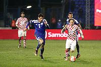 Osijek,23.03.2015. The stadium Municipal Garden played a friendly football match, Croatia - Israel. On picture Luka Modric, Nir Bitton<br /> Foto Mario CUZIC/Zagreb news agency