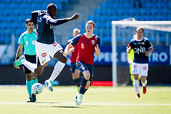 June 5, 2018 - Drammen, NORWAY - USAIN BOLT, playing for Strømsgodset, during a friendly match between Strømsgodset and Norway U19 in Drammen. Bolt is training as preparation for Soccer Aid, a charity match on June 10 at Old Trafford in Manchester, UK. (Credit Image: © Jon Olav Nesvold/Bildbyran via ZUMA Press)