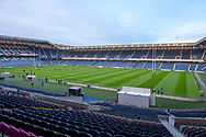 General view inside the BT Murrayfield Stadium, Edinburgh, Scotland before the Pro 14 2018_19 match between Edinburgh Rugby and Toyota Cheetahs on 5 October 2018.