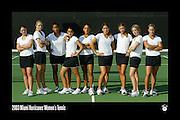 2003 Miami Hurricanes Women's Tennis Team Photo
