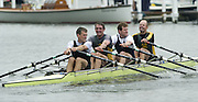 Henley on Thames, United kingdom,  Men's Quadruple Sculls. Molesey Boat Club and Crabtree BC<br /> Bow - Dirk Bangert, Guy Pooley, Jonny Searle and Richard Stanhope. 04/07/2002 - Fri.  Annual 2002 Henley Royal Regatta, Henley Reach, River Thames, England, [Mandatory Credit: Peter Spurrier/Intersport Images] 20020703 Henley Royal Regatta, Henley, Great Britain