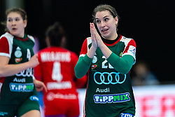 Rita Lakatos of Hungary in action during the Women's EHF Euro 2020 match between Serbia and Hungary at Sydbank Arena on december 06, 2020 in Kolding, Denmark (Photo by RHF Agency/Ronald Hoogendoorn)