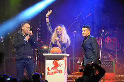 © Licensed to London News Pictures. 15/11/2013<br /> Tamera Foster arrives to turn the lights on.<br /> Bluewater,Kent. Christmas Light switch tonight (15.11.2013)<br /> with  Toby Antis, Justin Fletcher (Mr Tumble), Jahmene Douglas and X- factors Tamera Foster from this years show.<br /> Photo credit :LNP