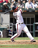 CHICAGO - MAY 19:  Welington Castillo #21 of the Chicago White Sox bats against the Toronto Blue Jays on May 19, 2019 at Guaranteed Rate Field in Chicago, Illinois.  (Photo by Ron Vesely)  Subject:  Welington Castillo