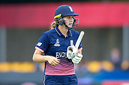 England womens cricket player Natalie Sciver  is out for 137 during the ICC Women's World Cup match between England and Pakistan at the Fischer County Ground, Grace Road, Leicester, United Kingdom on 27 June 2017. Photo by Simon Davies.