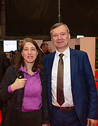 Ambassodor's reception at Holiday World RDS 2019 Friday.<br /> Pic shows Orli Weitzman (dept ambassador Israel) and Jiri Husner (Dept head of mission ,Czech republic) at the event today.<br /> Pic Gary Ashe.25/1/2019