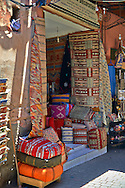 Shops of the Medina souk, Marrakesh, Morroco .<br /> <br /> Visit our MOROCCO HISTORIC PLAXES PHOTO COLLECTIONS for more   photos  to download or buy as prints https://funkystock.photoshelter.com/gallery-collection/Morocco-Pictures-Photos-and-Images/C0000ds6t1_cvhPo<br /> .<br /> <br /> Visit our ISLAMIC HISTORICAL PLACES PHOTO COLLECTIONS for more photos to download or buy as wall art prints https://funkystock.photoshelter.com/gallery-collection/Islam-Islamic-Historic-Places-Architecture-Pictures-Images-of/C0000n7SGOHt9XWI