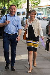 © Licensed to London News Pictures. 06/06/2015. London, UK. Chris Bryant and Yvette Cooper arriving. Current Labour Leadership candidates attend a debate at the Fabien Society Conference, held at the institute of Education in London. Photo credit: Ben Cawthra/LNP