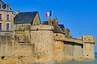 France, Manche (50), Baie du Mont Saint-Michel classé Patrimoine Mondial de l'UNESCO, Abbaye du Mont Saint-Michel // France, Normandy, Manche department, Bay of Mont Saint-Michel Unesco World Heritage, Abbey of Mont Saint-Michel