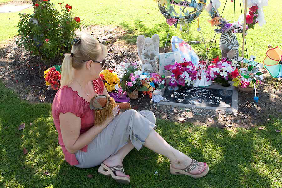 Dee Anna Anes joined the Mothers of an Angel support group after her daughter Hilary Nicole Sloane died. Dee Anna's husband Jose Anes, Martha and Kim Libecki are pictured in Fowler, California.