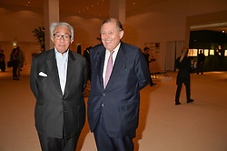 Left to right, SIR DAVID TANG and DAVID KER at the private preview of Masterpiece 2015 held at the Royal Hospital Chelsea, London on 24th June 2015.