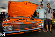 8/15/2019 - Solomon and son proudly display his Chevy Impala on display at Encinitas Classic Car Cruise Night