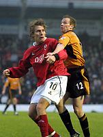 Jesper Christiansen (Kidderminster) Jody Craddock (Wolves). Kidderminster v Wolverhampton Wanderers. FA Cup 3th rd. 3/1/2004. Credit : Colorsport/Andrew Cowie.