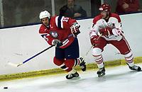 Ishockey, firenasjoners turnering 10. november Norge v Danmark 3-4. Atle Olsen, Norge.