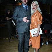 Stunning posh couple attend The British luxury Womenswear designer, Chanel Joan Elkayam, showcases her Autumn - Winter 2020 show ahead of London Fashion Week on 13 February 2020 at Cecil Sharp House, London, UK.