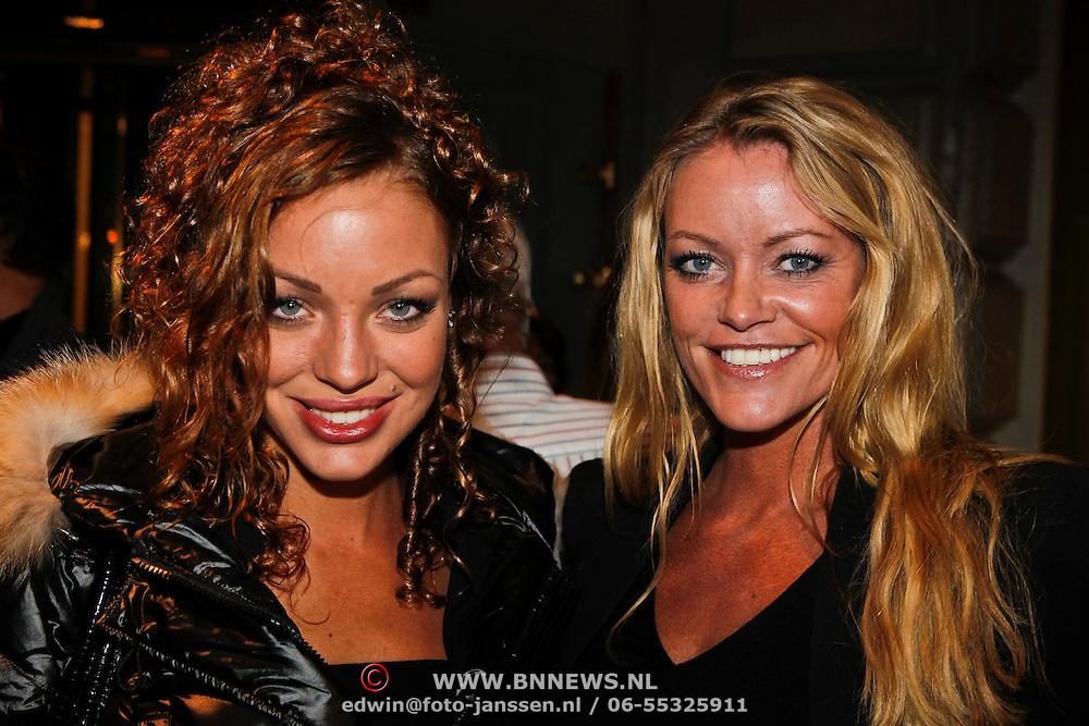 """NLD/Amsterdam/20101011 - Premiere show Hans Klok show """" Huricane"""" , Dorien Rose Duinker en Inge de Bruijn"""