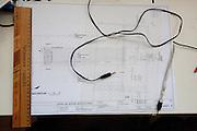 Architect's drawing. Pick Up Sticks Enterprises, Studio & Workshop of Architect & Artist Christopher Dukes, Kingsford, Sydney, New South Wales, Australia.