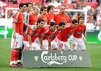 20090117: LISBON, PORTUGAL - SL Benfica vs Belenenses: Portuguese League Cup 2008/2009. In picture: Benfica Team. PHOTO: Alvaro Isidoro/CITYFILES