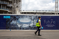 General view of building works at the new Tottenham Hotspur stadium next to White Hart Lane, London.