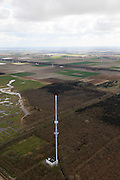 Nederland, Noord-Holland, Gemeente Wieringermeer, 16-04-2012. Wieringermeer, Robbenoordbos met radio en tv zendmast..Wieringermeer Robbenoordbos with radio and television transmission tower..luchtfoto (toeslag), aerial photo (additional fee required);.copyright foto/photo Siebe Swart