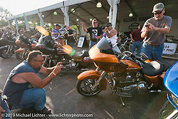 Reveal of the new Harley-Davidson Road Glide during Sturgis Black Hills Rally. SD, USA. August 1, 2014.  Photography ©2014 Michael Lichter.