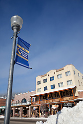 """""""Downtown Truckee 4"""" - Photograph of a Truckee California Welcome Center sign in commercial row, Downtown Truckee, CA."""
