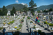 ITALY, Nembro (Province of Bergamo) 29/06/202 - in the image, the cemetry. Nembro suffered one of the highest ratio between the number of inhabitants and deaths than can be linked to Covid19 in Italy (188 casualties in a town of 10'000). Figures are not confirmed as swab tests were not carried out consistently. Court investigations are undergoing to establish reasons-why and responsibilities, especially concerning the avoidance of strict and early lock-down measures and the institution of a red-zone as happened to other towns around Lombardy and Veneto. Rumours seem to suggest that big manufacturing companies in the area pushed to avoid an early red-zone to keep the economy going. Very significant is the case of the ER of the Hospital of Alzano, that serves also the community of Nembro, as it was closed on the 23rd of February - when the situation was collapsing - and opened again just a few hours later.