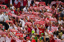 21-09-2014 POL: FIVB WK Finale Polen - Brazilie, Katowice<br /> Feature Zuschauer / Fans Polen<br /> <br /> ***NETHERLANDS ONLY***