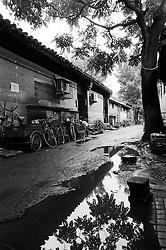 Empty hutong or alley in Beijing