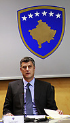 Pristina, Kosovo<br /> Thursday, September 25th, 2008<br /> <br /> <br /> PICTURED: Kosovo PM H. Thaci,  during the government meeting.<br /> <br /> Vedat Xhymshiti / ZUMA Press