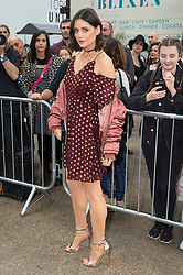 © Licensed to London News Pictures. 18/09/2016.  LILAH PARSONS attends the TOP SHOP UNIQUE  Spring/Summer 2017 show. Models, buyers, celebrities and the stylish descend upon London Fashion Week for the Spring/Summer 2017 clothes collection shows. London, UK. Photo credit: Ray Tang/LNP<br /> <br /> <br /> London, UK. Photo credit: Ray Tang/LNP