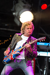 © Licensed to London News Pictures . 09/08/2015 . Siddington , UK . JOHN PARR performs . The Rewind Festival of 1980s music , fashion and culture at Capesthorne Hall in Macclesfield . Photo credit: Joel Goodman/LNP