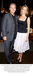 Actor TREVOR EVE and his wife actress SHARON MAUGHAN, at a party in London on 3rd October 2002.PDT 259