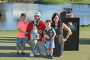 Arnold Palmer Invitational Champion 2017 Marc Leishman and Family, after the Final Round of the The Arnold Palmer Invitational Championship 2017, Bay Hill, Orlando,  Florida, USA. 19/03/2017.<br /> Picture: PLPA/ Mark Davison<br /> <br /> <br /> All photo usage must carry mandatory copyright credit (© PLPA | Mark Davison)