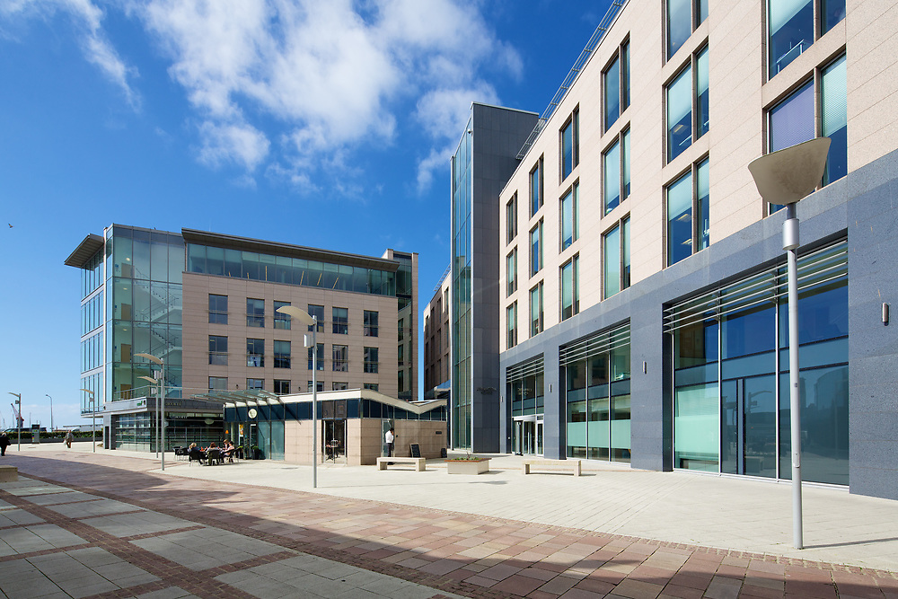 Apartments, corporate offices and commercial buildings at Liberty Wharf, St Helier, Jersey, Channel Islands